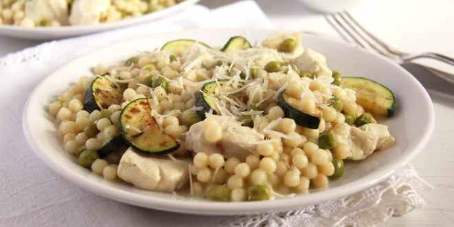 Israeli Couscous with Zucchini and Chicken