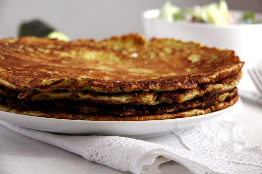 zucchini pancakes feta Zucchini Feta Pancakes