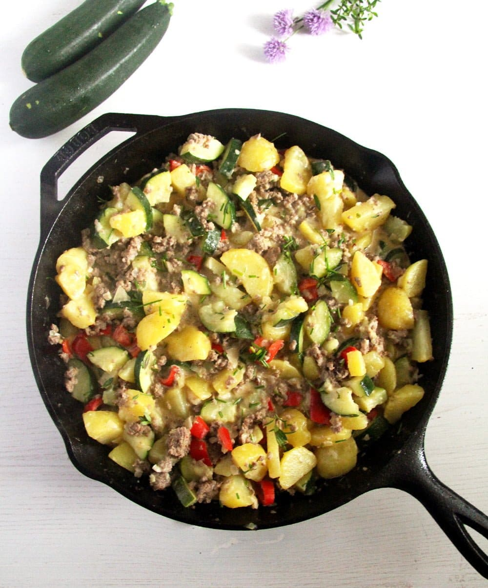 zucchini potatoes Zucchini Beef Skillet