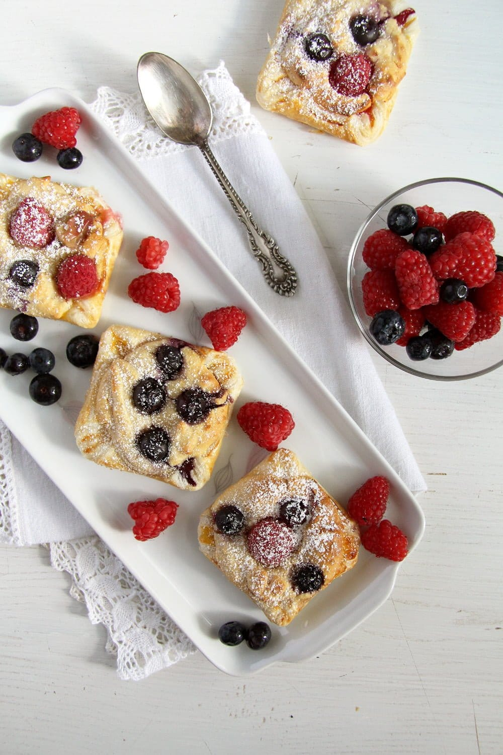 marzipan berry puff pastry Marzipan Berry Parcels