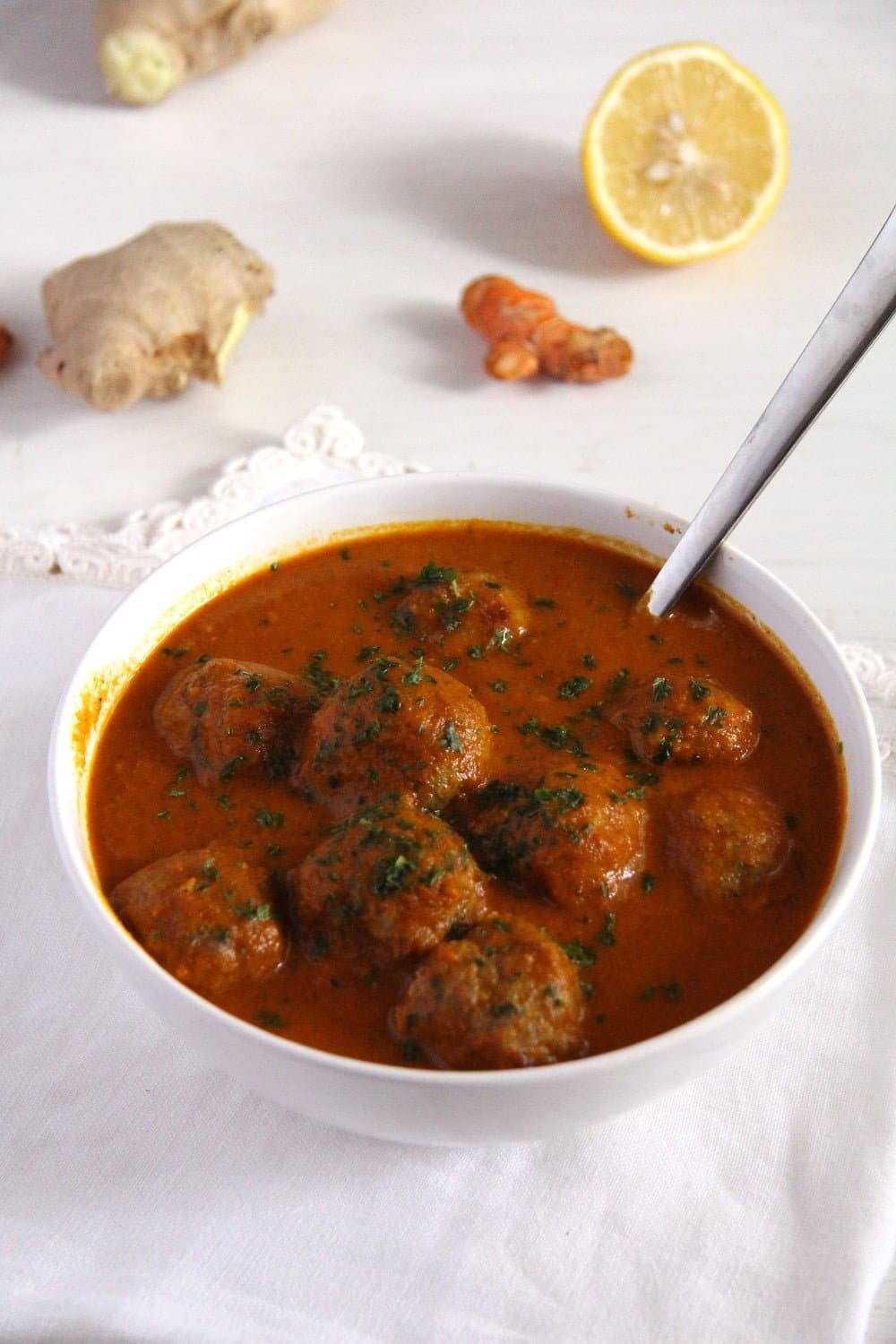 meatballs turkey spicy Turkey Meatballs in Turmeric Sauce