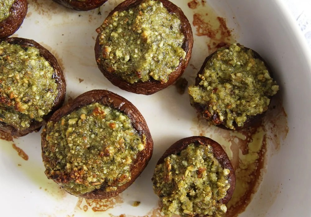 stuffed mushrooms herb Mushrooms with Herb Butter Filling