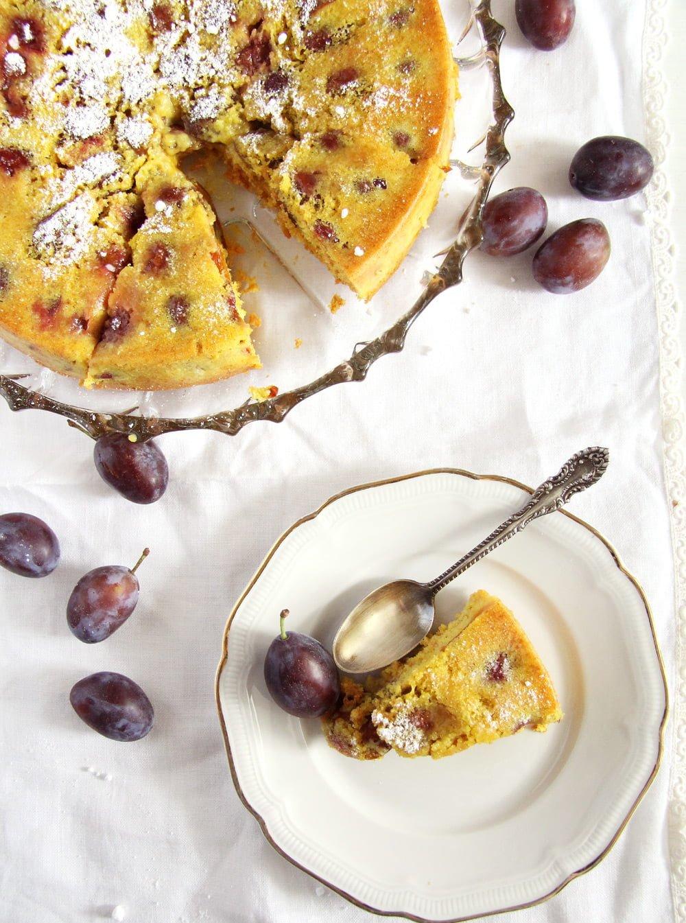 turmeric cake plums Turmeric Plum Cake