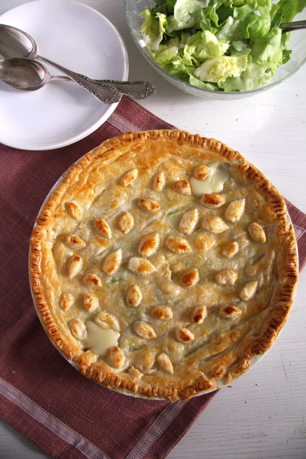 chicken peas pie Chicken and Ham Pie