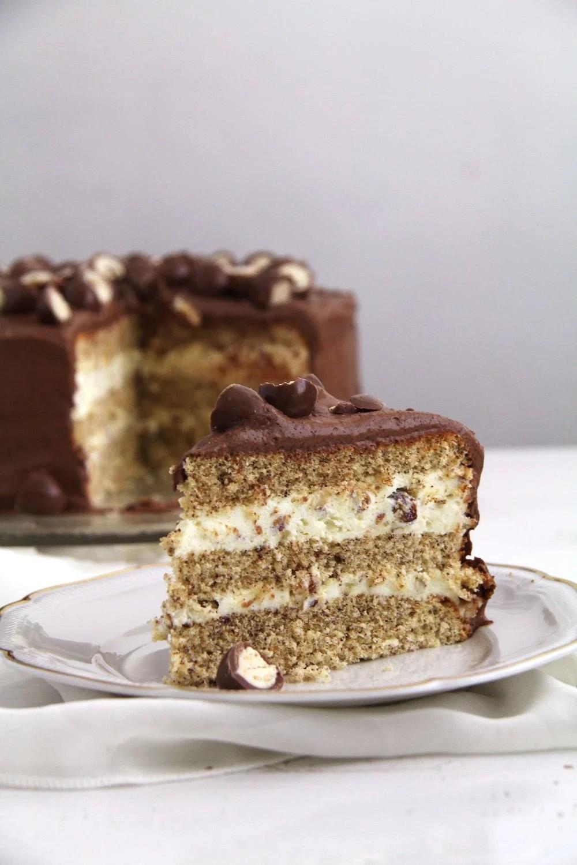 schoko bon torte Schoko Bons Torte with Hazelnuts and Mascarpone Filling