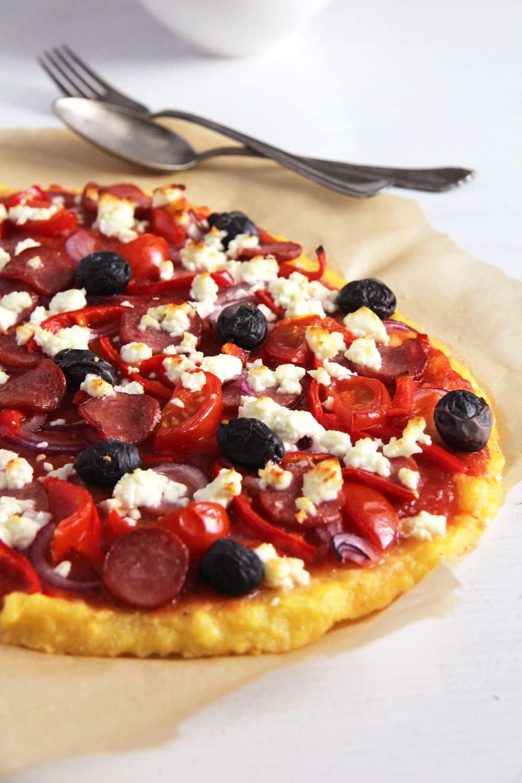 polenta pizza olives Polenta Pizza