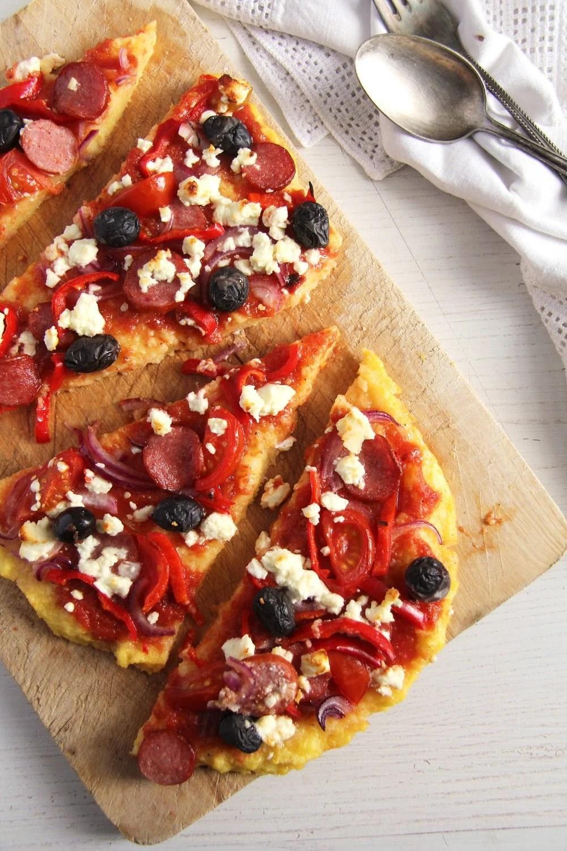 polenta pizza sausage Polenta Pizza