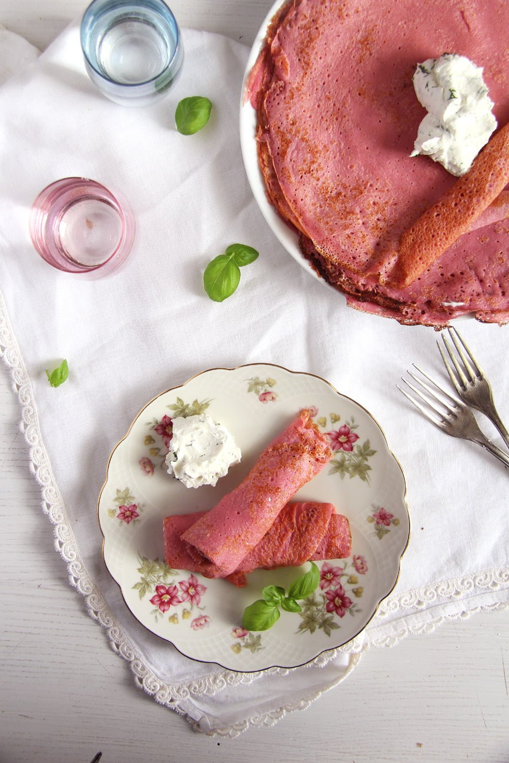 beet crepes romanian Beetroot Crepes