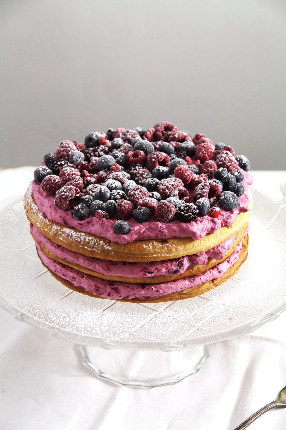 berry cake pink Berry Puff Pastry Cake
