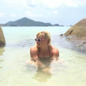 girl beach sunglasses summer thailand