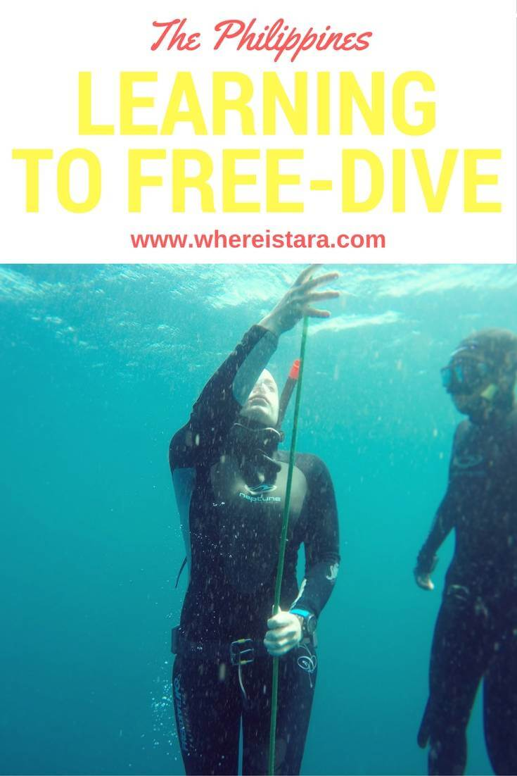 learning to free dive philippines where is tara povey top irish travel blog