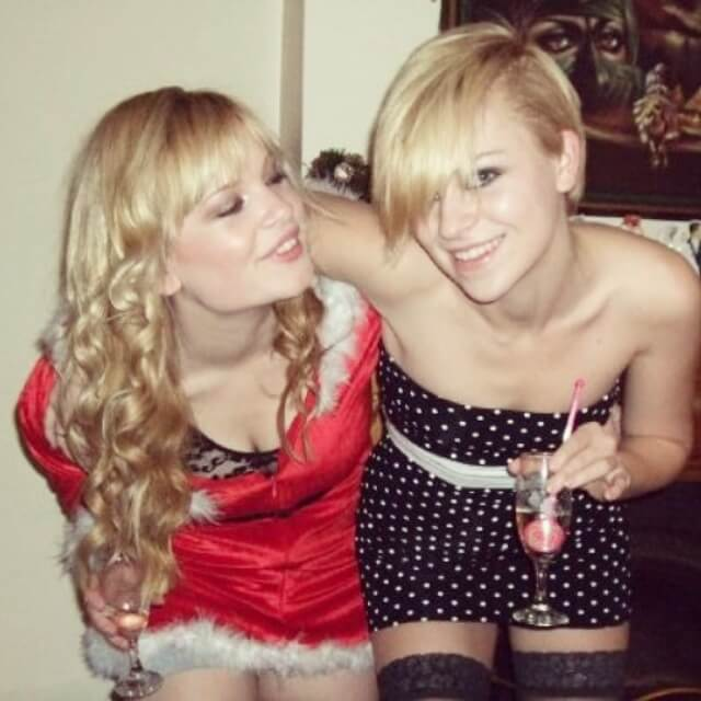 Me and my sister at Christmas!:)