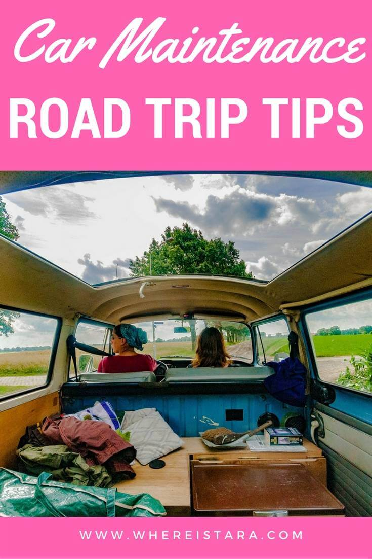 car maintenance on road trip where is tara povey top irish travel blogger