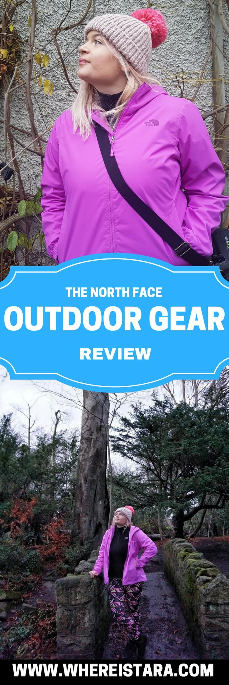 THE NORTH FACE OUTDOOR GEAR REVIEW WHERE IS TARA povey top irish travel blogger