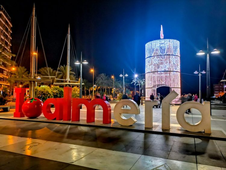 Christmas in Almería city spain