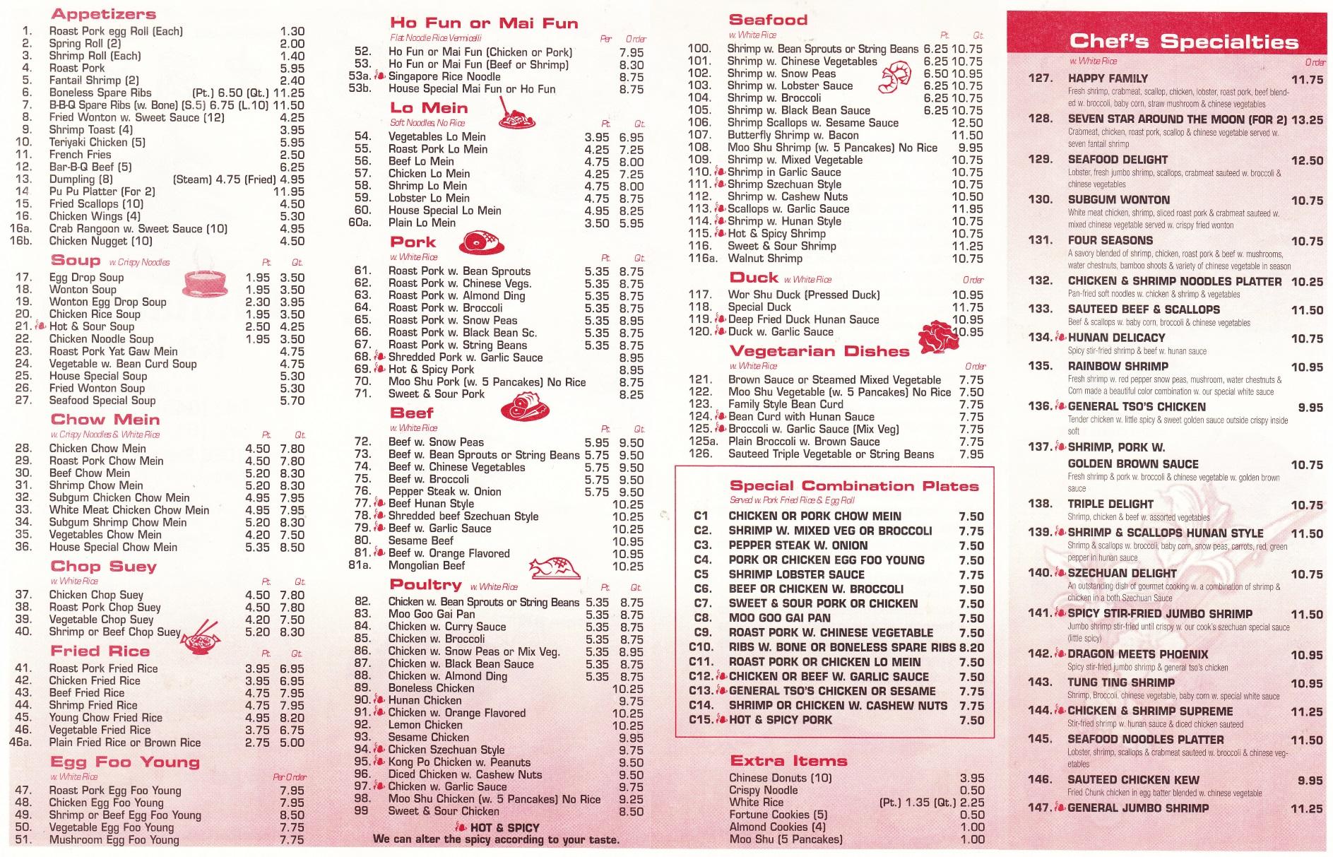 Whereisthemenunet  Chinatown Kitchen  Montgomery NY 12549