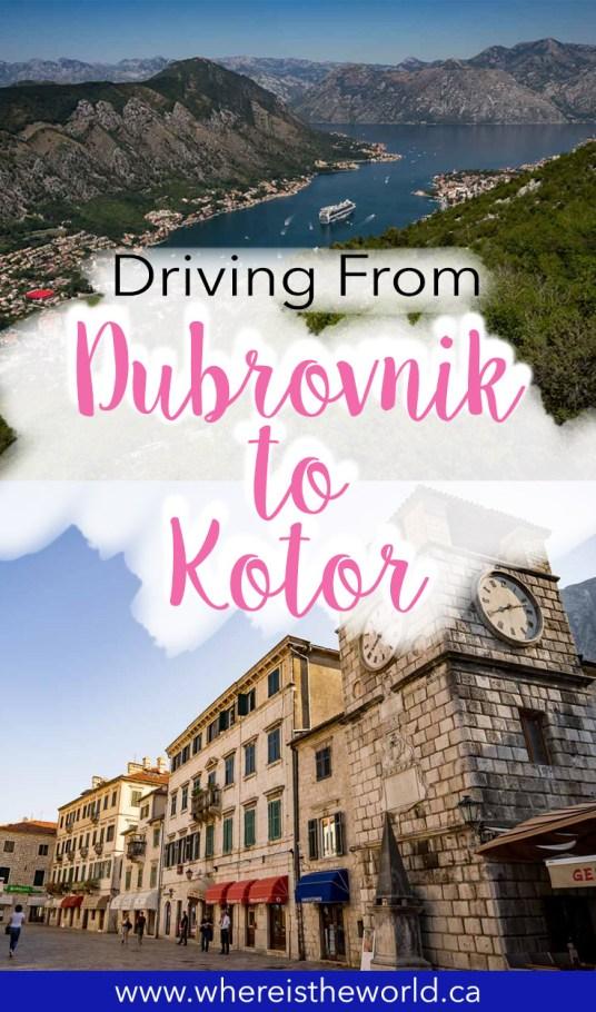 Dubrovnik to Kotor