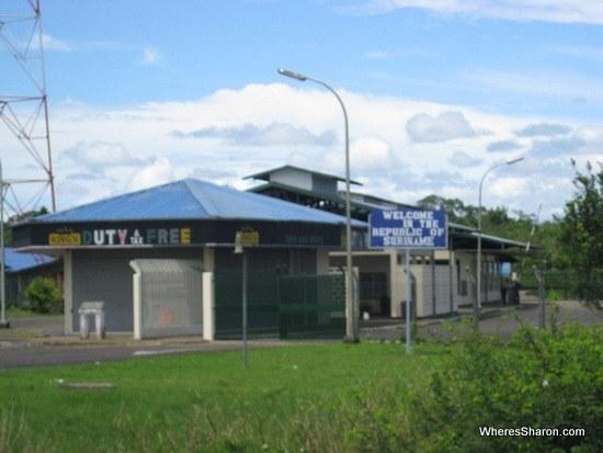 Guyana Suriname border post