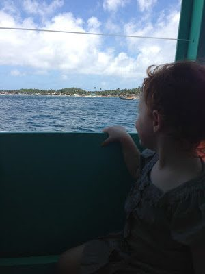 On the ferry to Boracay