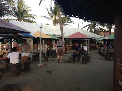 Drinking and snack stalls by baybay beach roxas city