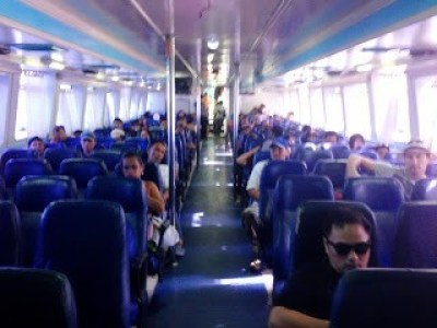 Economy class on the boat