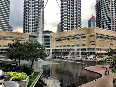 Suria shopping center with Petronas towers in the background Kuala Lumpur