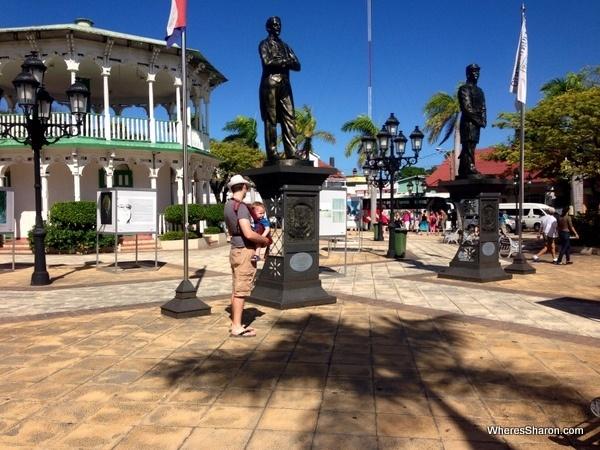 exploring parque central on puerto plata excursion
