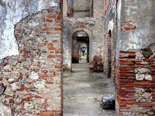 The ruins of Sans Souci palace.
