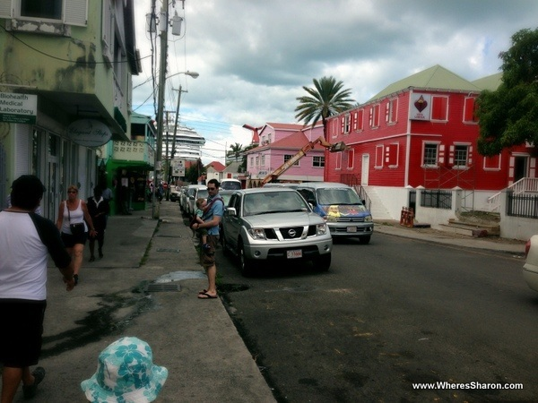 Walking the streets of St Johns antigua