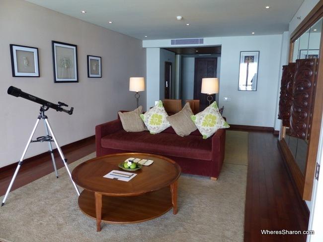Samabe bali suites living area
