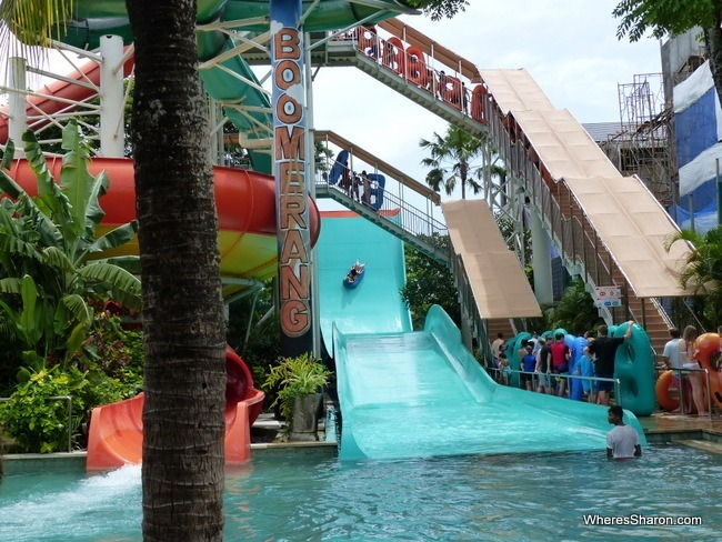 Boomerang and Super Bowl at waterbom bali