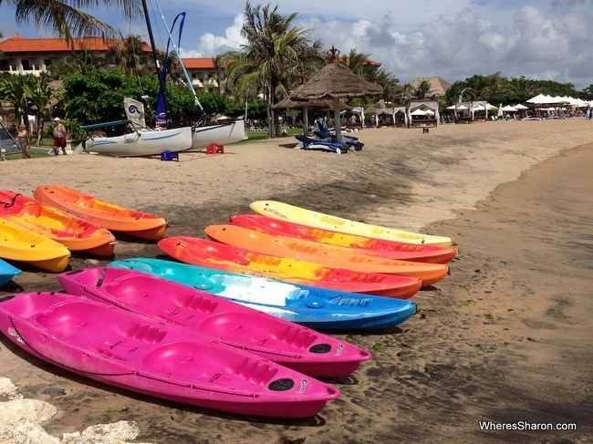 Beach at Tanjung Benoa, Nusa Dua best places to stay in bali