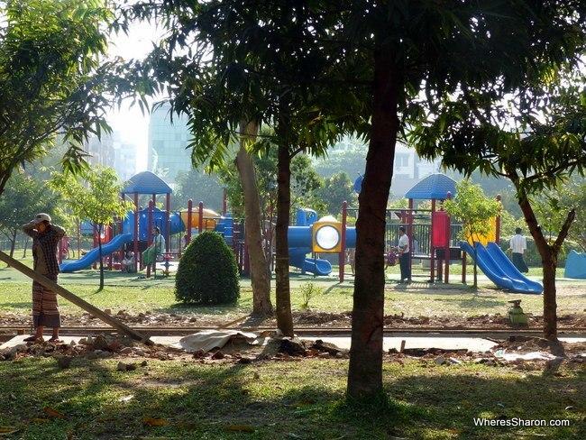 Playground at Mahabandoola Garden