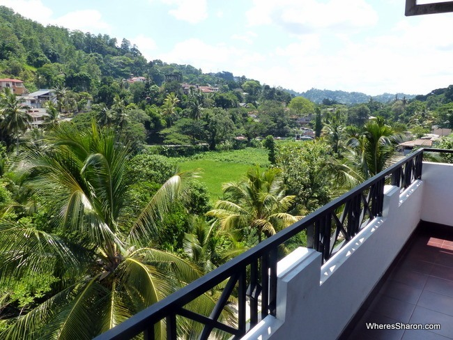 Renuka Inn Kandy balcony and view
