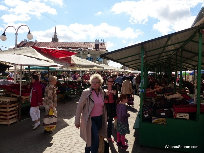 central market place to visit in Riga