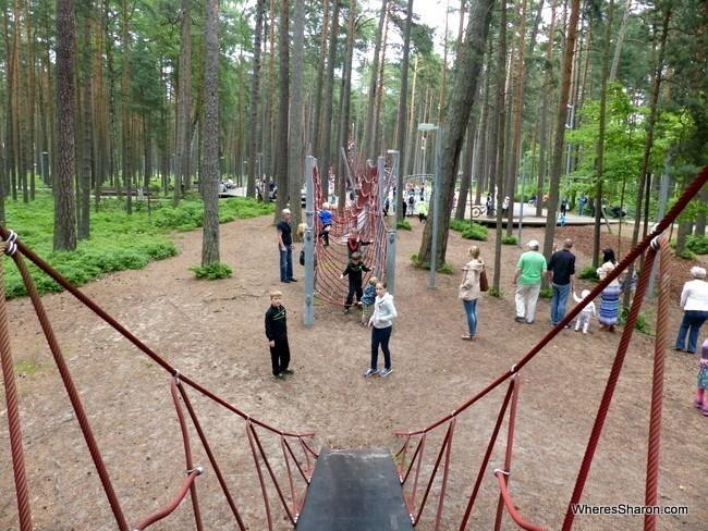 Dzintari Forest Park in Jurmala Latvia