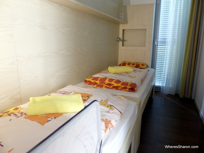 kids' bedroom at Falkensteiner Family Hotel Diadora Review