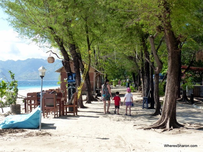 beach path on Gili Meno