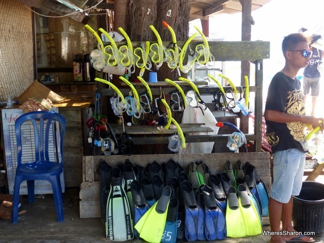 snorkel on the gili islands