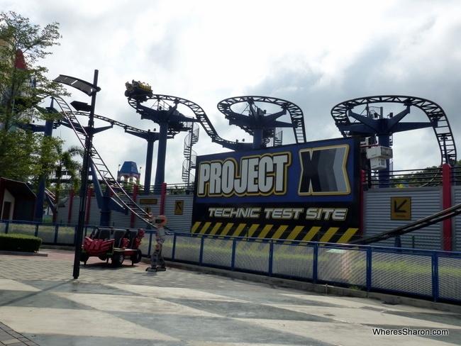roller coaster at Legoland Malaysia