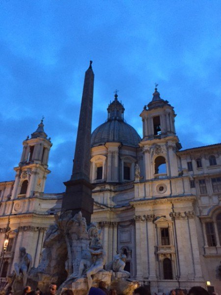 rome tour with kids Piazza Navona right in the centre of Rome