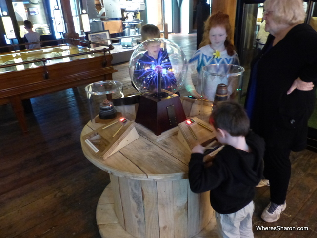 Experimenting with electricity in The Attic at the Wellington Museum.