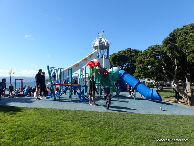 The awesome park by the water at Frank Kitts Park.