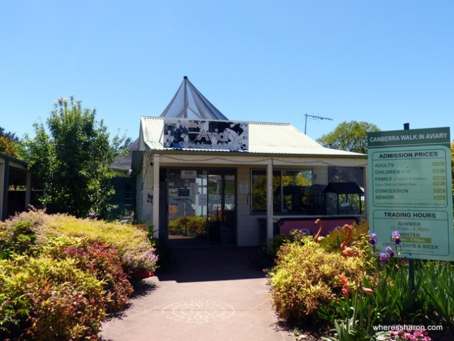 places to go near canberra at the Canberra Walk-in Aviary