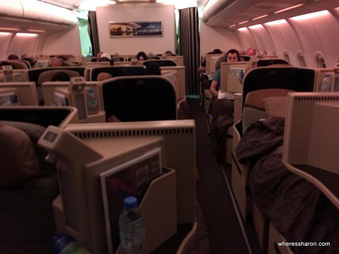 Etihad A330 business class review