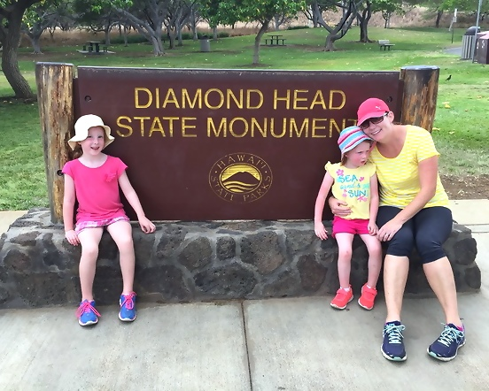 oahu activities for kids at Diamond Head Crater Hike