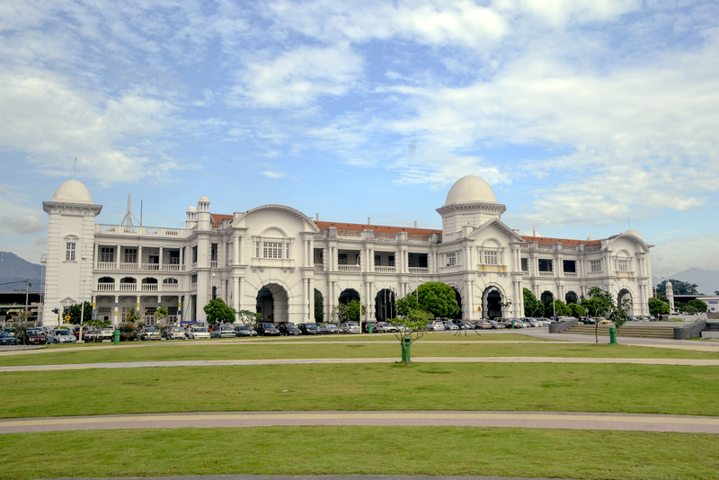 Ipoh's renowned Railway Station. An Ipoh place to visit to see some of the city's best colonial architecture.