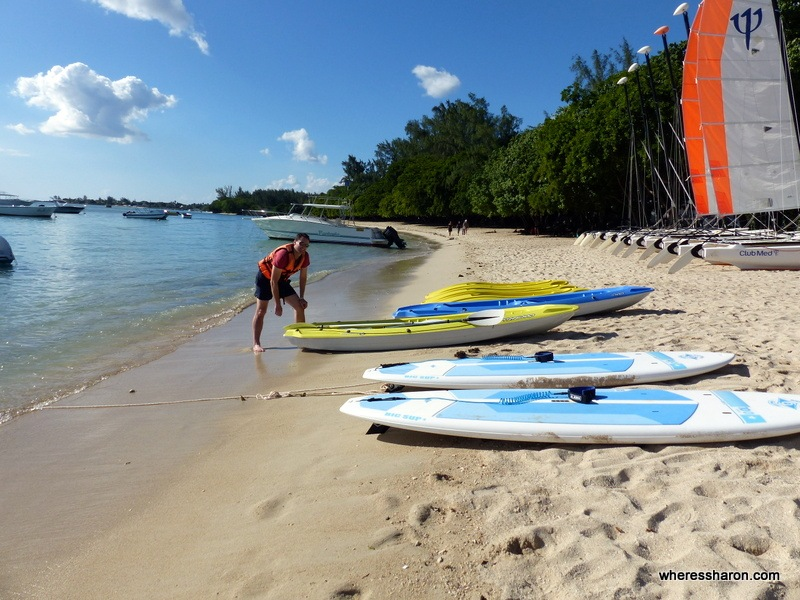 kayaking at Club Med Albion