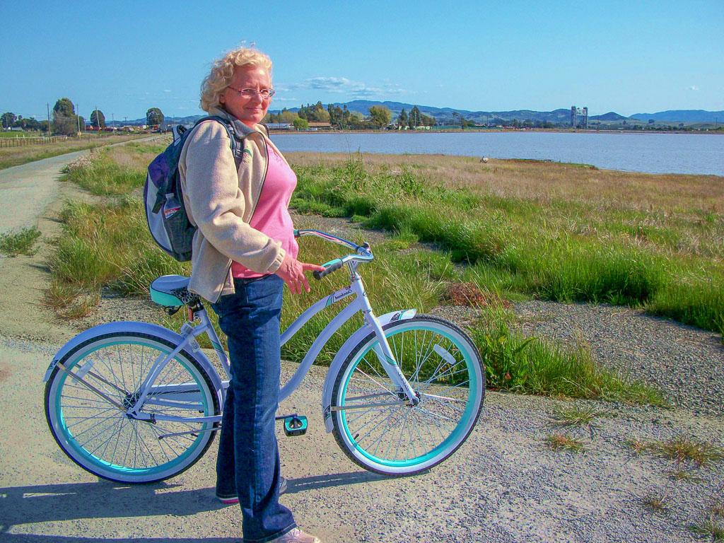 Biking Along the Napa River Marsh in California