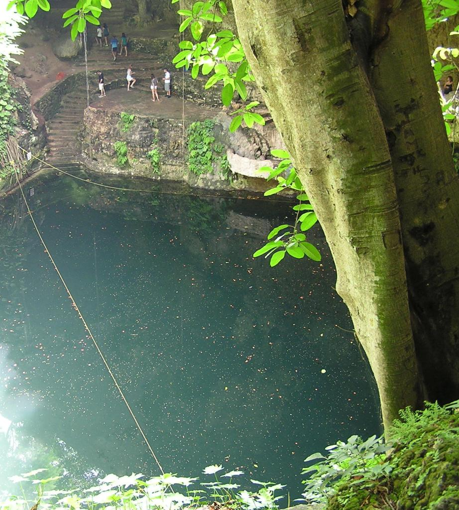 One of Several Cenotes Near Chichen Itza. Cool off after a hot visit!